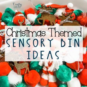 Christmas Themed Sensory Bin