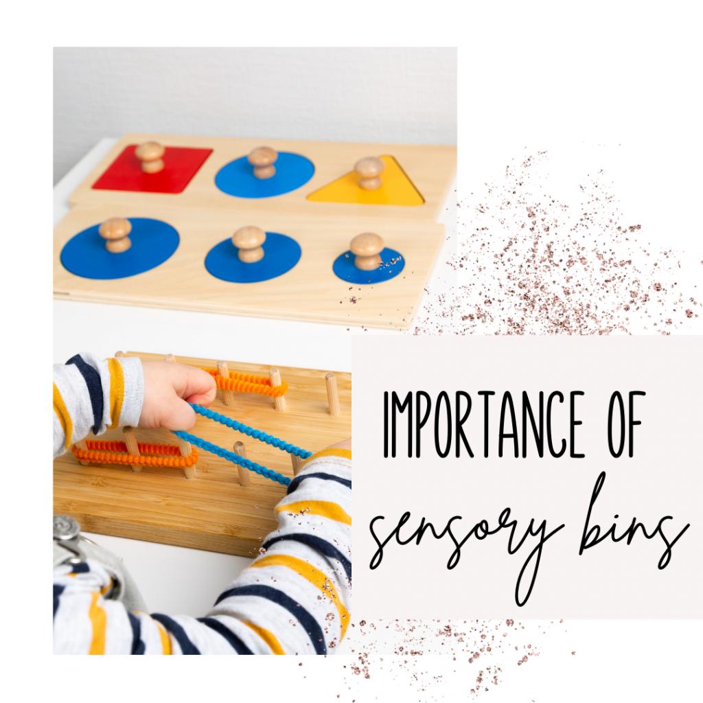 Importance of Sensory Bins Child playing with sensory items