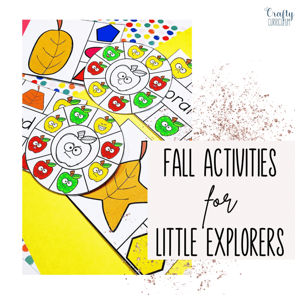 Fall Activities for Little Learners displays learning shapes and colors